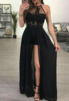 See-through Black Prom Gowns,Simple Prom Dress, A-line Halter Prom Dresses,Chiffon Evening Dresses,Sexy Long Prom Dresses Chiffon Evening Dresses, Backless Prom Dresses, Black Prom Dresses, A Line Prom Dresses, Cheap Prom Dresses, Prom Party Dresses, Sexy Dresses, Prom Gowns, Dress Prom