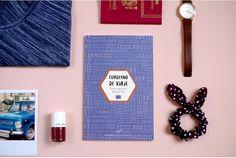 """Cuaderno de viajes """"Mentes inquietas"""" AZUL MARINO"""