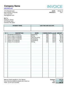 Invoice Sample Template Free Invoice Templates For Word Excel Open Office Invoiceberry, Free Invoice Template For Excel, Free Invoice Template For Excel, Freelance Invoice Template, Invoice Format In Excel, Invoice Layout, Invoice Example, Printable Invoice, Invoice Template Word, Receipt Template, Invoice Design, Quote Template