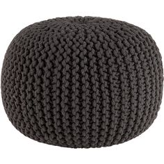 $90, Knitted Pouf Graphite, CB2 - More texture! Extra seating! I would get a couple of these since they are so versatile and would add a lot to the space. You can toss them anywhere!