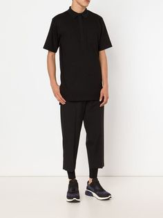 patch pocket polo shirt