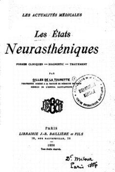 Les états neurasthéniques , 1898