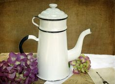 french enamelware coffeepot