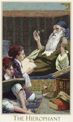 The Hierophant - Victorian Romantic Tarot by Alex Ukolov, Karen Mahony Tarot Cards Major Arcana, All Tarot Cards, The Hierophant, Rider Waite Tarot, Tarot Learning, Tarot Card Meanings, Oracle Cards, Card Reading, Tarot Decks