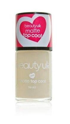 Beauty UK Matte Top Coat Nail Polish - Matujący lakier wykańczający