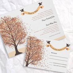 Vintage Fall Wedding Invitation Ideas