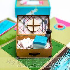 Explosionsbox mit Picknickkorb #explosionsbox #picknick #picknickkorb #geschenk…