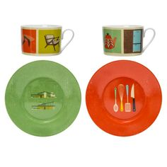 Two Cups and Saucers - Living Room & Kitchen