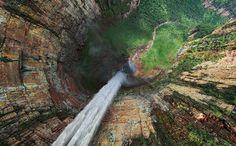 Stunning 360° Aerial Panoramas of the World's Highest Waterfall