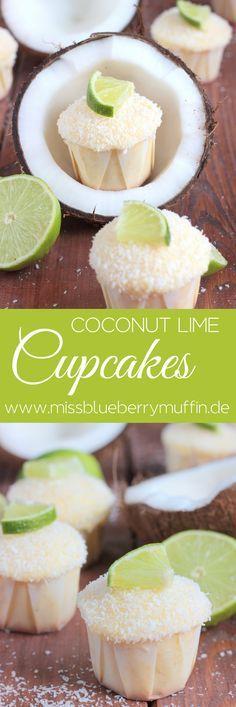 Sommerliche Kokosnuss-Limetten-Cupcakes // Coconut Lime Cupcakes