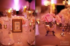 Exquisite #centerpieces  uplighting creates an elegant touch! : #TheEveryLastDetail #Studio222Photography