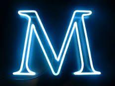 Letter M by Lite Brite Neon Studio Lit Wallpaper, Phone Screen Wallpaper, M Letter, Letter Logo, Neon Bedroom, Fire Image, Neon Words, Longest Word, Neon Nights