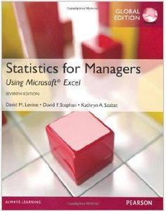 This text thoroughly integrates Microsoft® Excel as a tool for analysis and presents statistical concepts in the context of the functional areas of business.  Cote: 9-31 LEV