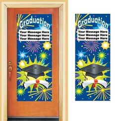 Wide variety of graduation door banners
