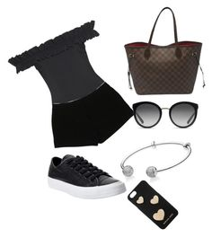"""""""Untitled #10"""" by ericaivan27 on Polyvore featuring Converse, Karla Colletto, Express, Louis Vuitton, Pandora, Dolce&Gabbana, Michael Kors, men's fashion and menswear"""