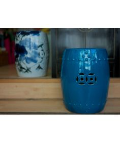 qing art - silver is cool but these blue ones really stand out!  Ceramic Stool Petrol Blue - Chinese Furniture Contemporary Chinese Furniture [] - £130.00 : Qing Art - Chinese Furniture, Soft Furnishings, Lighting, Contemporary Oriental Interiors