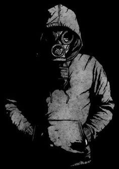 Gas mask art - Shading and hood change colors on the hood to a white but keep the shading, add an american flag in the background Ps Wallpaper, Graffiti Wallpaper, Gas Mask Art, Masks Art, Gas Masks, Graffiti Art, Dope Art, Post Apocalyptic, Apocalyptic Fashion