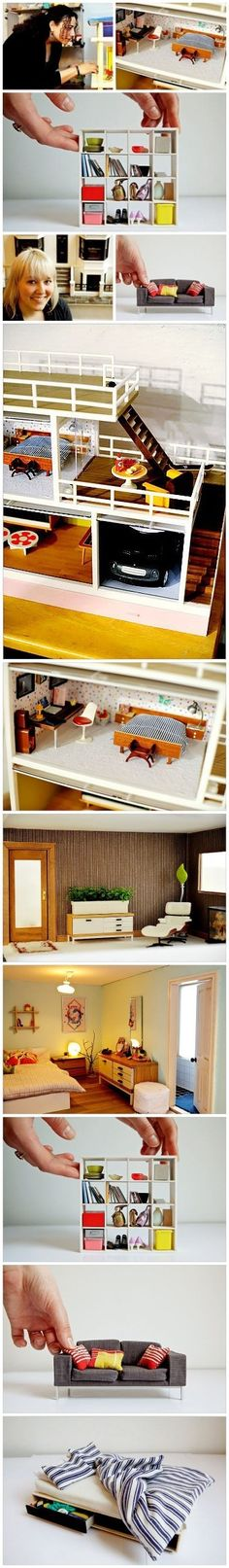 Mini Ikea bookcase!