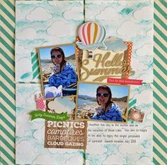 My Creations: Hello Summer...New Carta Bella and a Tutorial! by Guiseppa Gubler #cartabelladesignteam #cartabellapaper