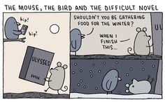"""Tom Gauld's Brilliant Literary Cartoons Blur the Artificial Line Between """"High"""" and """"Pop"""" Culture 