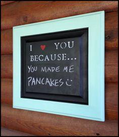 chalkboard for kitchen. So neat..