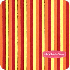 Welcome To Sesame Street Red And Orange Stripe Yardage SKU 22474 RO