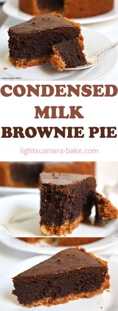 Condensed Milk Brownie Pie is based on my viral recipe for the condensed milk brownies. That famous recipe! I've turned it into a pie. Baking Recipes, Baking Desserts, Dessert Recipes, Pie Recipes, Condensed Milk Desserts, Sweeten Condensed Milk Recipes, Sweet Condensed Milk Caramel, Digestive Biscuits, Gluten Free Foods