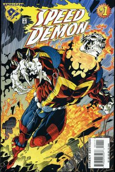 Speed Demon, a Mash Up of the Flash and Ghost Rider by Salvador Larroca