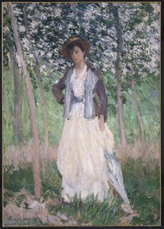 The Stroller (Suzanne Hoschedé, later Mrs. Theodore Earl Butler, 1868–1899) Claude Monet  (French, Paris 1840–1926 Giverny)