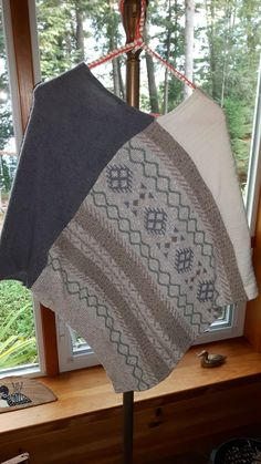 Another Inspiration of recycled sweaters or wool blankets--no instructions. More