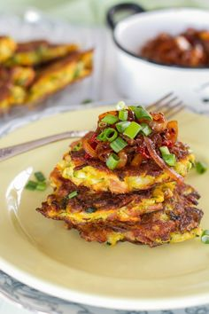 Zucchini & Bacon Fritters