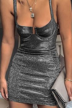 Black Glitter Sleeveless Square Neck Sexy Party Bodycon Dress 5ac051ecf