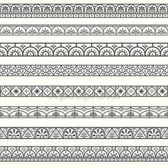 Borders with classical style Mandala Doodle, Mandala Art Lesson, Mandala Artwork, Mandala Painting, Doodle Art Drawing, Zentangle Drawings, Mandala Drawing, Zentangles, Mandala Pattern