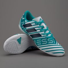 9f224b8890f adidas Nemeziz Messi 17.4 IN - White Legend Ink Energy Blue. Futsal ShoesFootball  ...