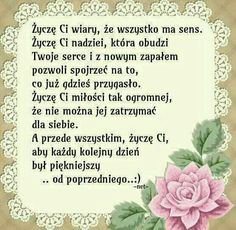 Wisdom Quotes, Words Quotes, Wise Words, Birthday Greetings, Birthday Wishes, Happy Birthday, Motivational Words, Inspirational Quotes, Polish Language