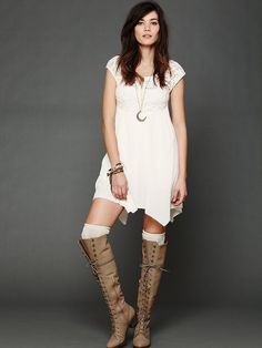 Brushed Lace and Gauze Top. I like the look. Different neckline and top part of dress for me.