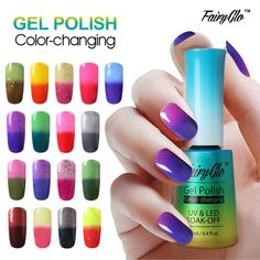 FairyGlo 12ML Thermo UV Gel Nail Polish LED Gel Polish Color Change Paint Gellak Hybrid Varnish Lucky Lacquer Semi Permanent  // Price: $US $2.09 & FREE Shipping //  Buy Now >>>https://www.mrtodaydeal.com/products/fairyglo-12ml-thermo-uv-gel-nail-polish-led-gel-polish-color-change-paint-gellak-hybrid-varnish-lucky-lacquer-semi-permanent/  #MrTodayDeal