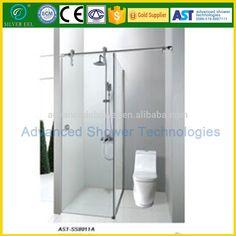 Bathroom Photo Frosted Modern Glass Shower Sliding Door