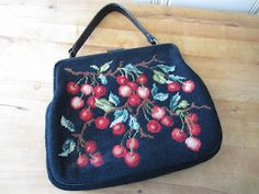 Cherry needlepoint