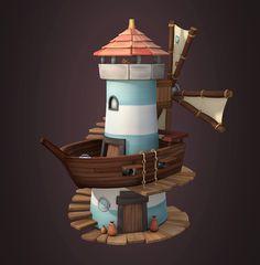 Lighthouse, Charlotte Cuvelier on ArtStation at https://www.artstation.com/artwork/RloEX