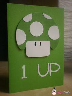 Mario birthday card - Hibou de ficelle