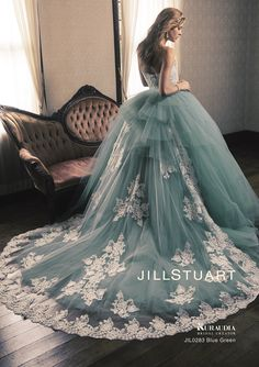 31 Ideas For Wedding Blue Dress Fashion Colored Wedding Dresses, Wedding Dress Styles, Blue Dresses, Bridal Gowns, Wedding Gowns, Wedding Blue, Trendy Wedding, Gowns Of Elegance, Girls Party Dress