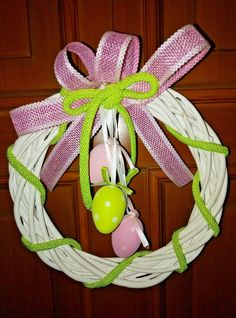 Ghirlande Pasquale artigianalmente in midollino fatte a mano pezzo unico Cod1202 Wreaths, Christmas Ornaments, Halloween, Holiday Decor, Ebay, Home Decor, Bricolage, Xmas Ornaments, Decoration Home