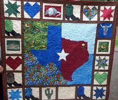 TEXAS QUILT PATTERN | Texas Quilt: Bluebonnets, Boots, & Stars