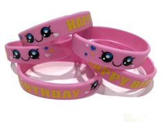 Cute Kawaii Wristbands - 12 Youth Party Favors-Finally more Shopkins Party Favors