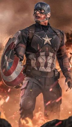Captain America with his Broken Shield iPhone Wallpaper - iPhone Wallpapers