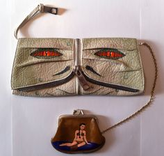 Jabba the Hutt clutch purse and Princess Leia coin purse (etsy)