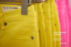 Rag & Bone Jean neon yellow my favorite !!!