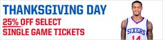 Sixers Thanksgiving Day Deal