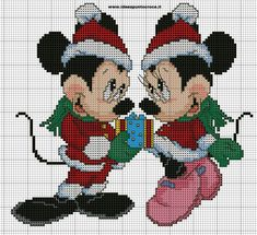 schema topolino e minnie natalizi